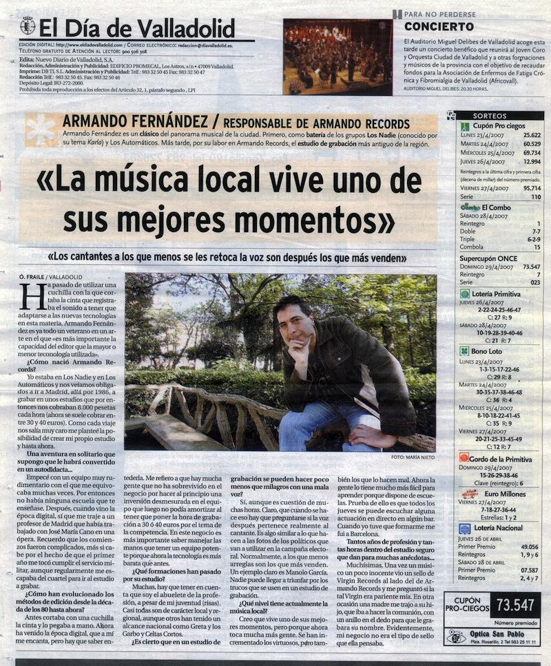El día de Valladolid 2007 Armando Records Valladolid