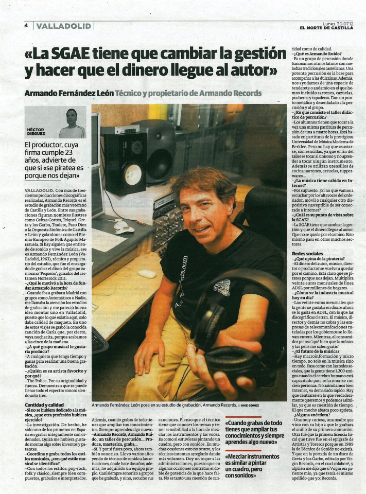 Norterock2 Armando Fernández de León Armando Records