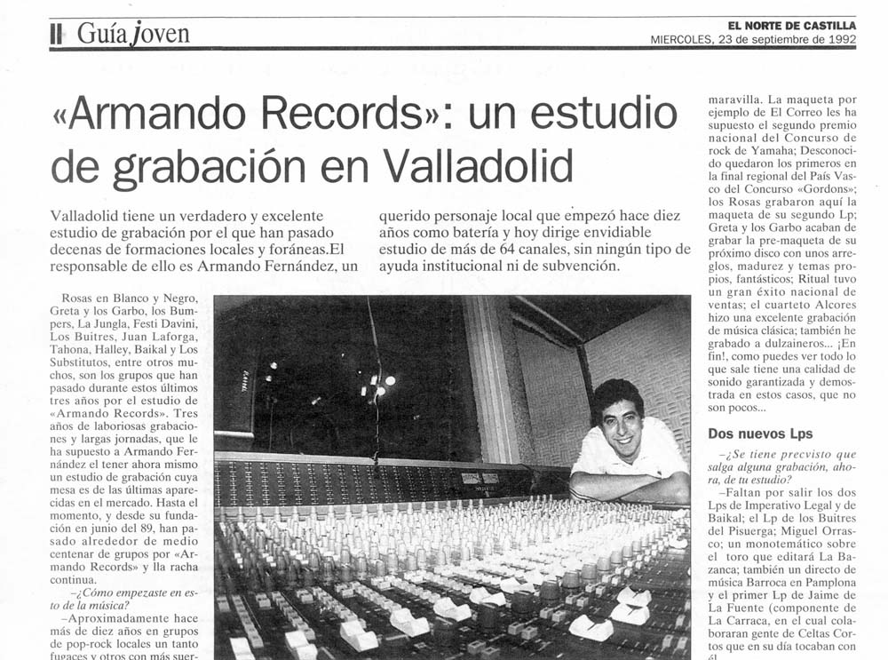 Armando Records Norte de Castilla