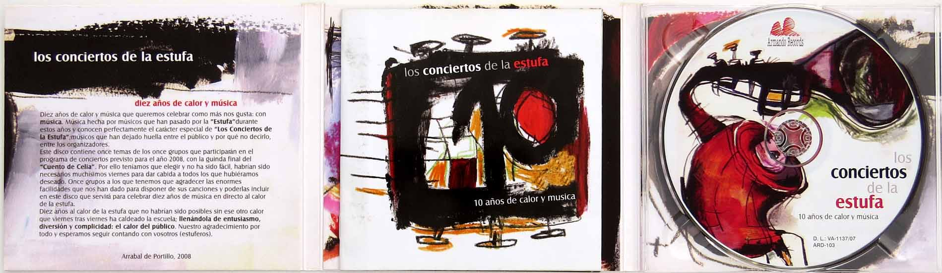 Disco Libro Duplicación Armando Records Valladolid España