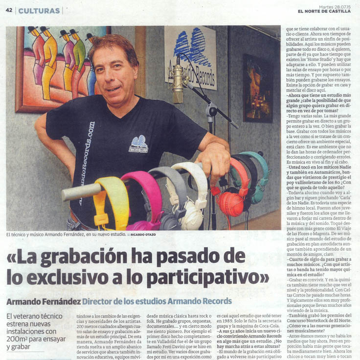 Entrtevista_Norte_de_Castilla_Armando_Records