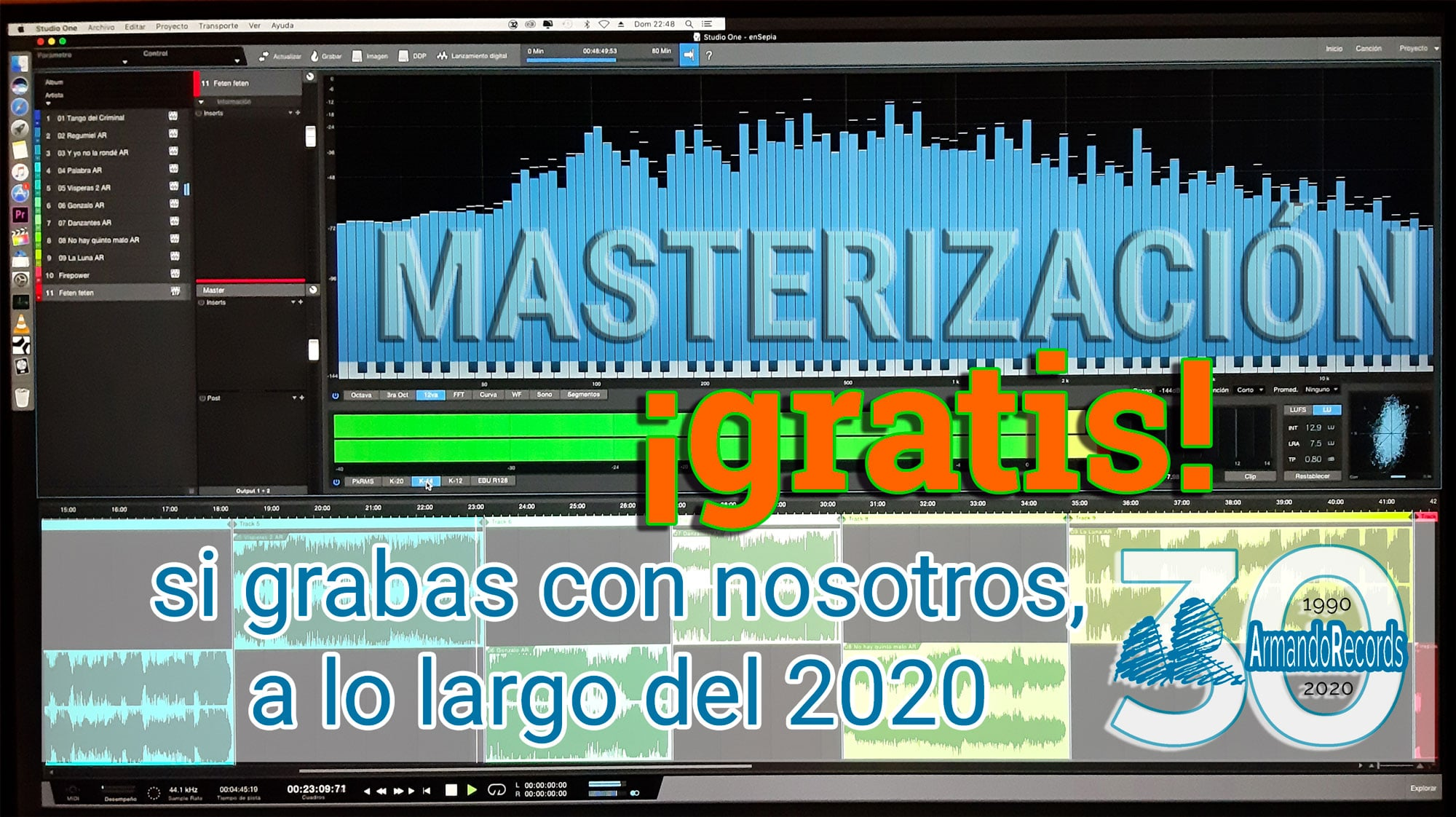Masterización Gratis Armando Records