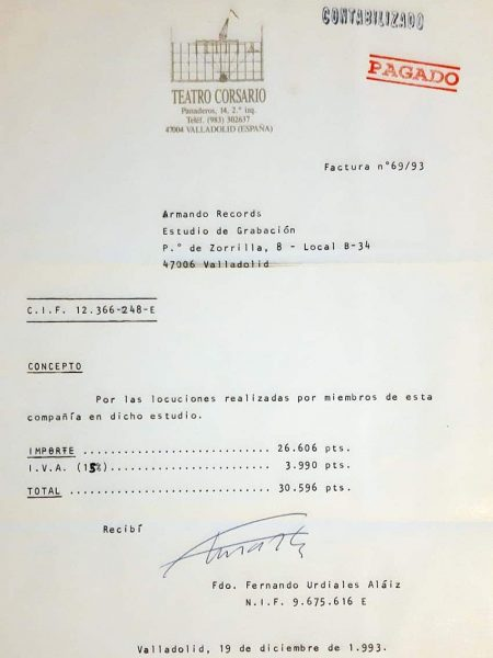 04 Factura Teatro Corsario 1993